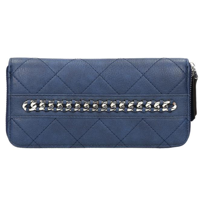 Dámská peněženka s prošíváním bata, modrá, 941-9146 - 26