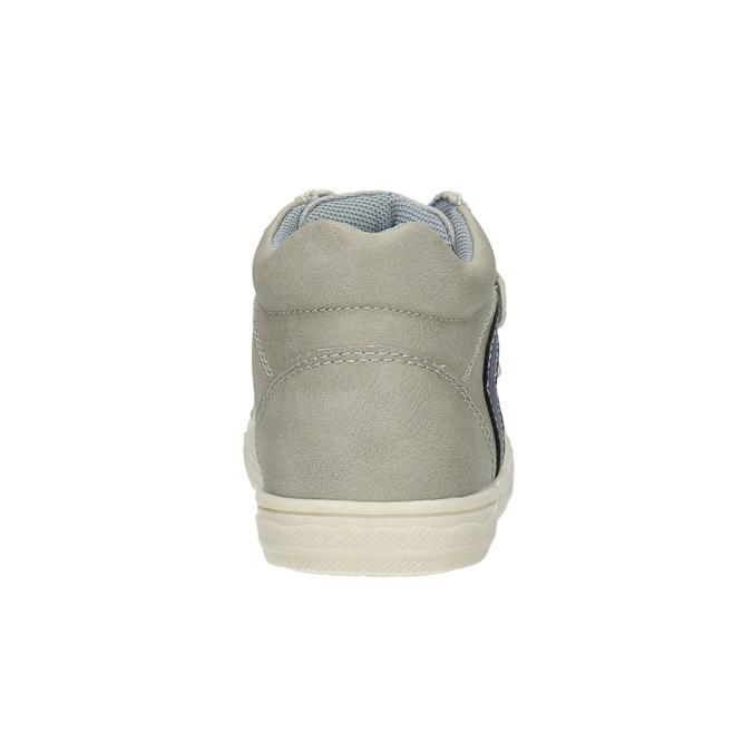 Dětské kotníčkové tenisky mini-b, šedá, 211-2606 - 17