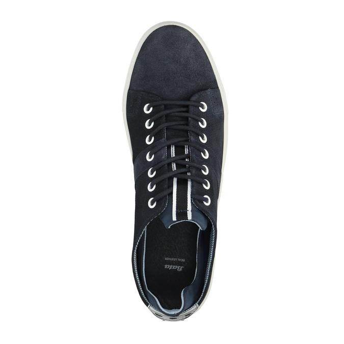 Kožené tenisky s perforací bata, modrá, 843-9621 - 19