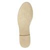 Kožené polobotky s perforací bata, béžová, 526-8619 - 26
