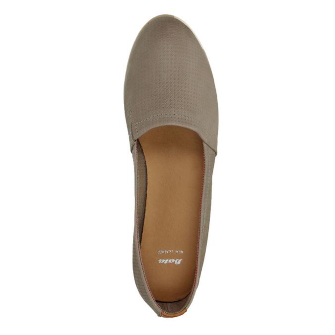 Dámská kožená Slip-on obuv bata, hnědá, 516-2602 - 19
