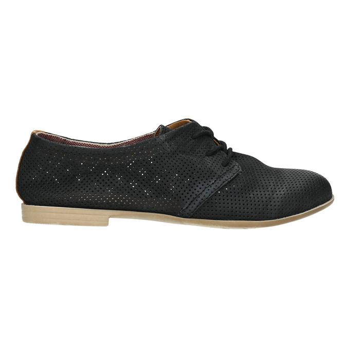 Dámské polobotky s perforací bata, černá, 526-6619 - 15