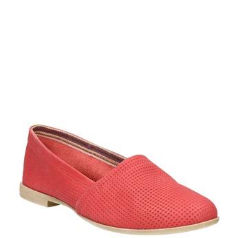 Červené kožené Slip-on boty bata, červená, 516-5602 - 13