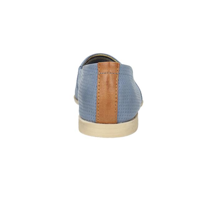 Dámská obuv ve stylu Slip-on bata, modrá, 516-9602 - 17