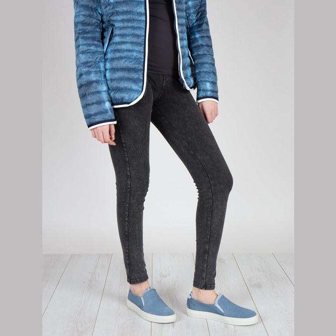 Dámská obuv ve stylu Slip-on bata, modrá, 516-9600 - 18