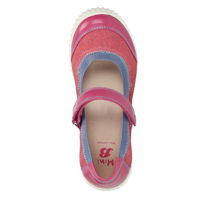 Dětské baleríny s páskem přes nárt mini-b, růžová, 329-5605 - 19