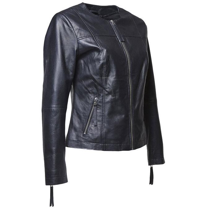 Elegantní kožená bunda bata, černá, 974-6312 - 16