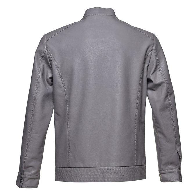 Pánská koženková bunda bata, šedá, 971-2191 - 26