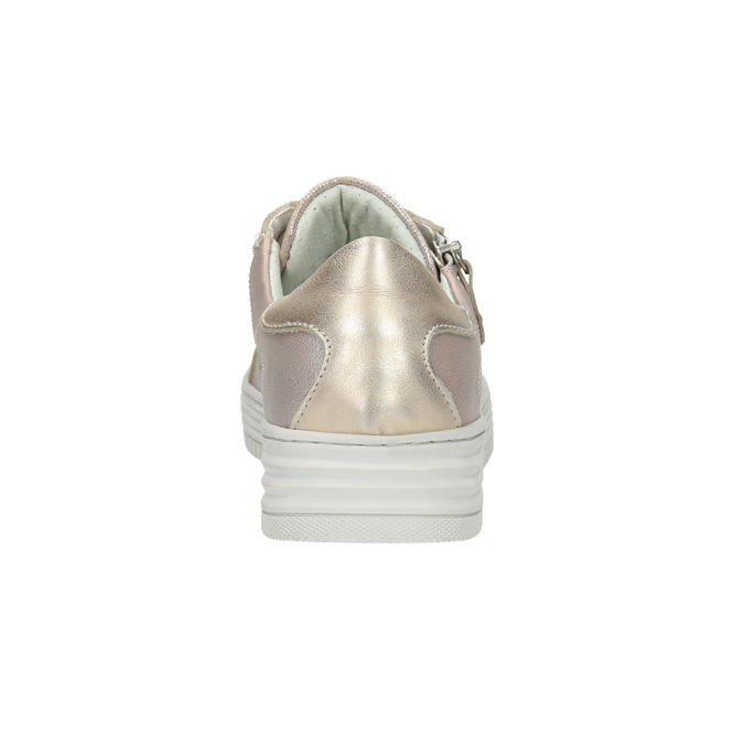 Růžové kožené tenisky se zipem bata, růžová, 526-5630 - 17