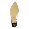 Kožené Sling-back lodičky bata, bílá, 624-1634 - 26