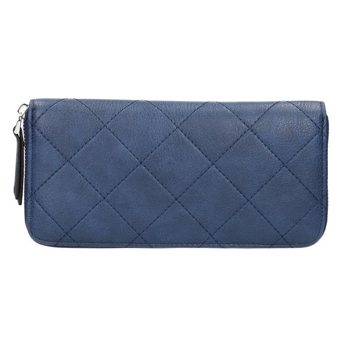 Dámská peněženka s prošíváním bata, modrá, 941-9146 - 19