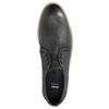 Kožené pánské polobotky s výrazným prošitím bata, černá, 826-6815 - 19