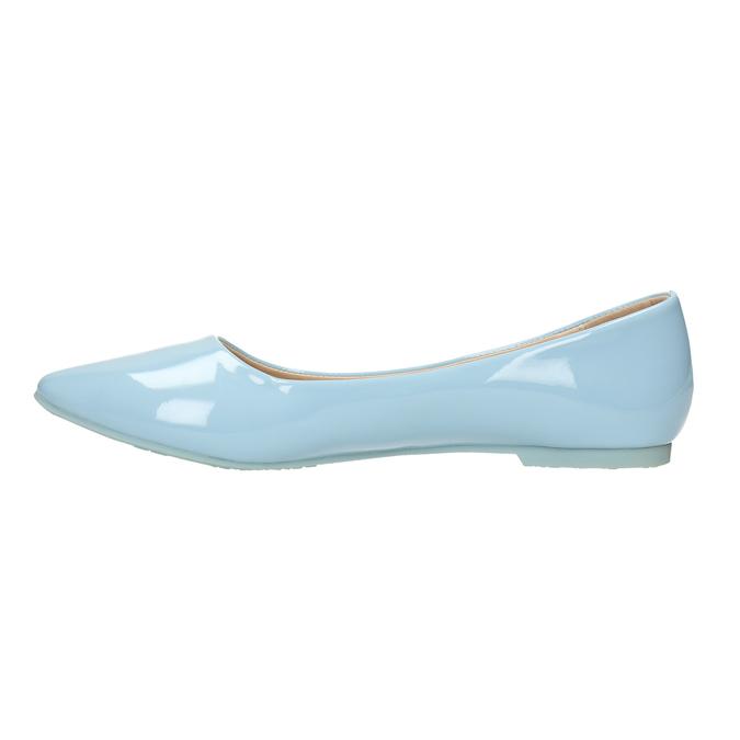 Světle modré dámské baleríny bata, modrá, 521-9602 - 26