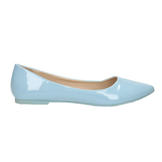 Světle modré dámské baleríny bata, modrá, 521-9602 - 15