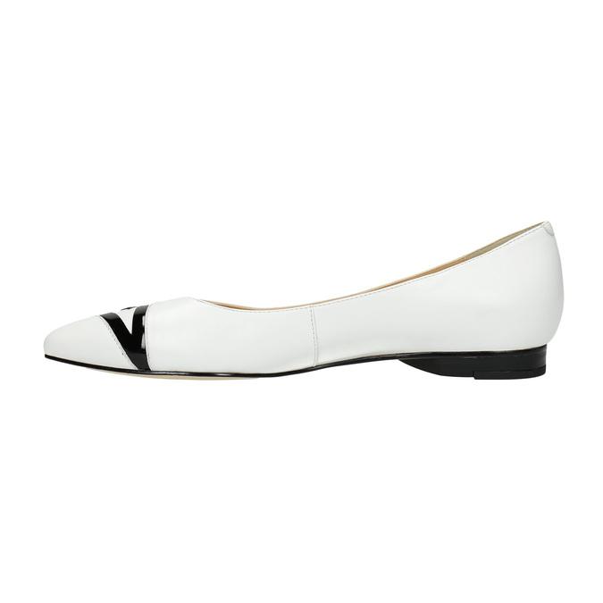 Kožené dámské baleríny bata, bílá, 524-1602 - 26