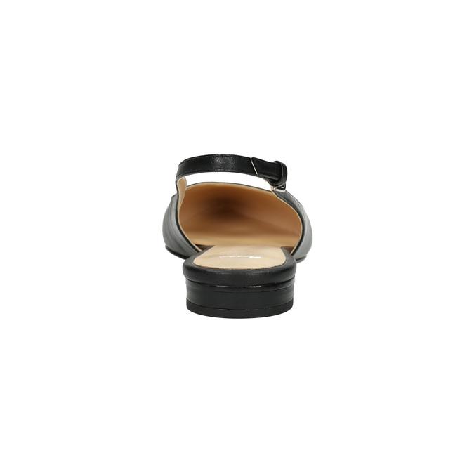 Dámské baleríny s otevřenou patou bata, černá, 524-6603 - 17