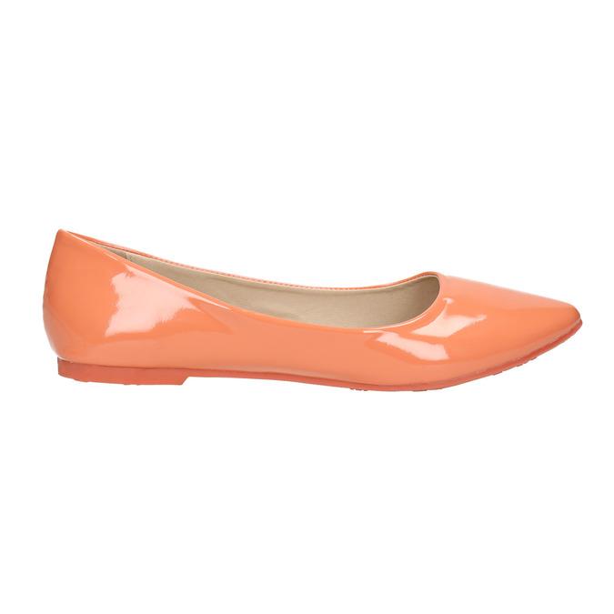Dámské baleríny bata, oranžová, 521-8602 - 15