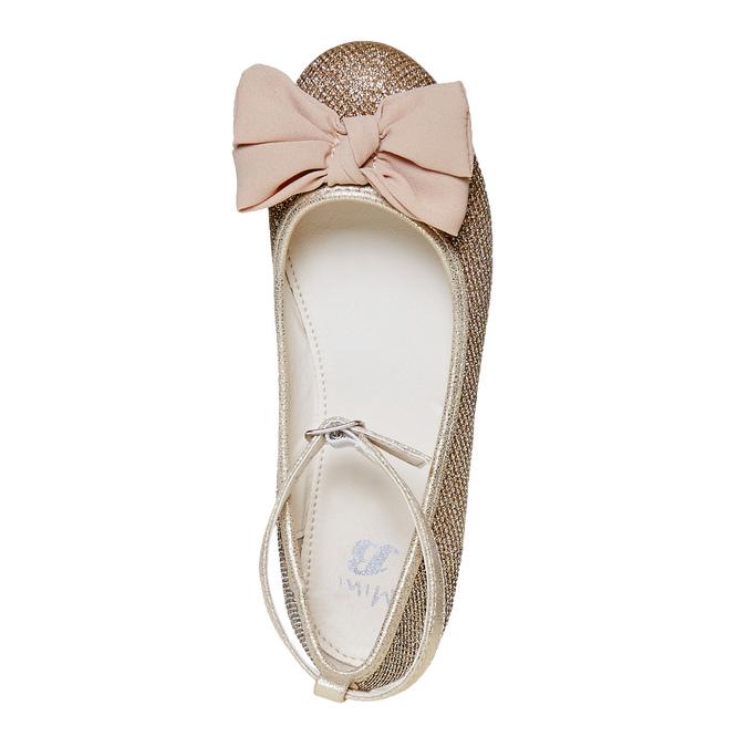 Dívčí baleríny s mašlí mini-b, zlatá, 329-8241 - 19