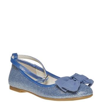 Modré dívčí baleríny mini-b, modrá, 329-9241 - 13