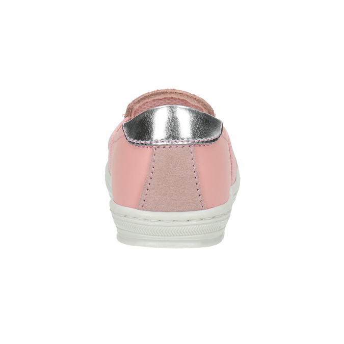 Dětská kožená Slip-on obuv bubblegummers, růžová, 123-5600 - 17