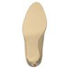 Kožené lodičky s otevřenou špičkou insolia, béžová, 726-8638 - 26