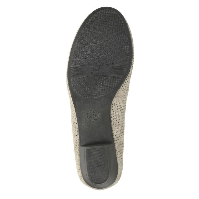 Kožené lodičky šíře H bata, šedá, 623-2601 - 26