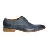 Modré kožené polobotky bata, modrá, 826-9801 - 15