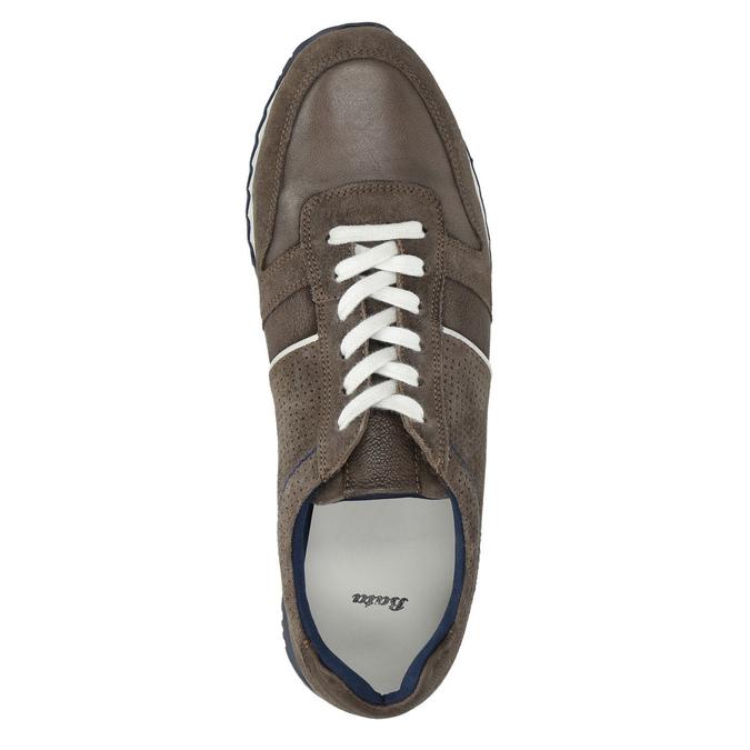 Pánské kožené tenisky bata, hnědá, 843-4624 - 19