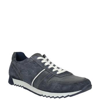 Pánské kožené tenisky bata, modrá, 843-9624 - 13