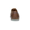 Kožené polobotky na průhledné podešvi bata, hnědá, 826-3803 - 17