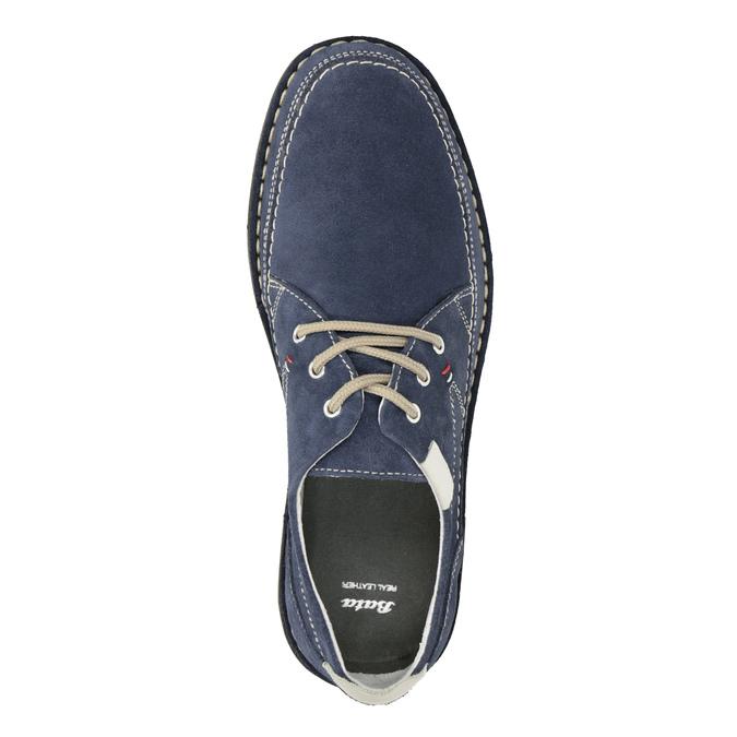 Neformální polobotky z broušené kůže bata, modrá, 853-9612 - 15