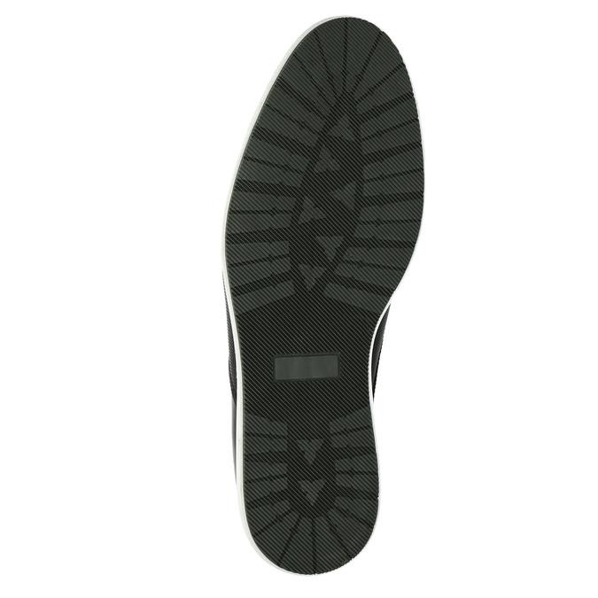 Kožená kotníčková obuv s ležérní podešví bata, černá, 826-4818 - 26