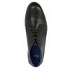 Kožená kotníčková obuv s ležérní podešví bata, černá, 826-4818 - 19
