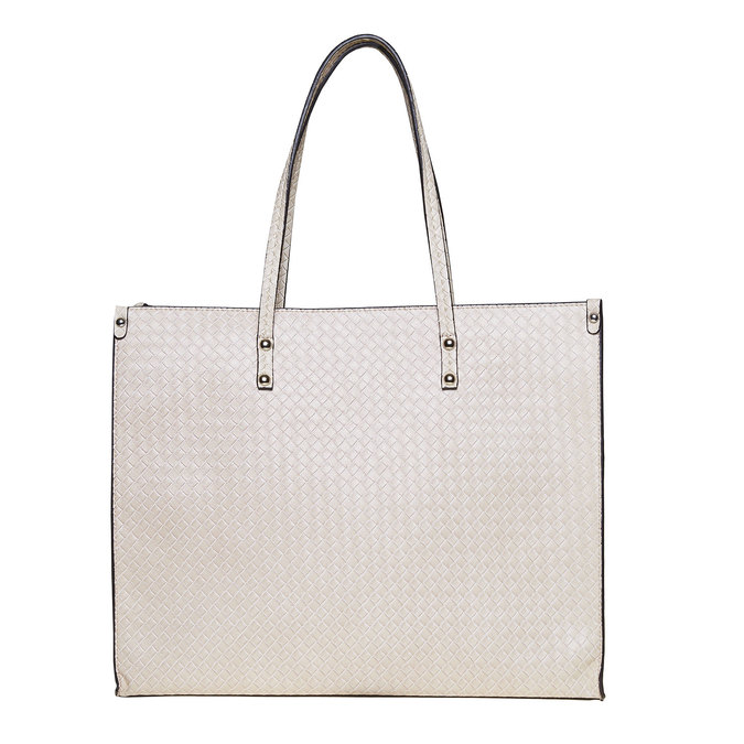 Krémová dámská kabelka s pleteným vzorem bata, béžová, 961-8289 - 26