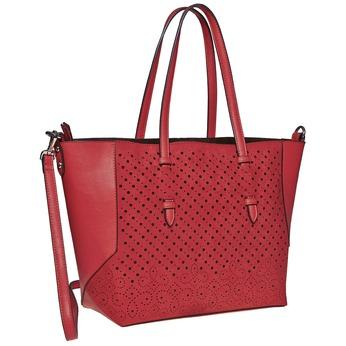 Perforovaná dámská kabelka bata, červená, 961-5276 - 13
