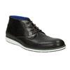 Kožená kotníčková obuv s ležérní podešví bata, černá, 826-4818 - 13