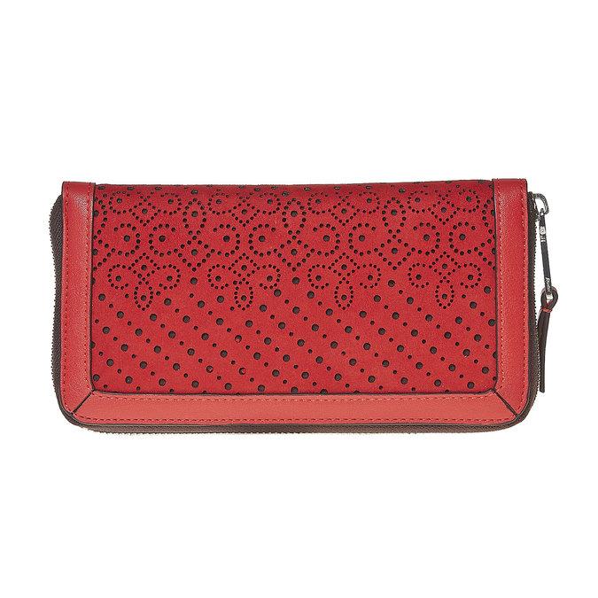 Červená dámská peněženka bata, červená, 941-5147 - 17