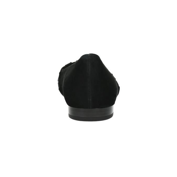 Kožené baleríny do špičky gabor, černá, 523-6202 - 17