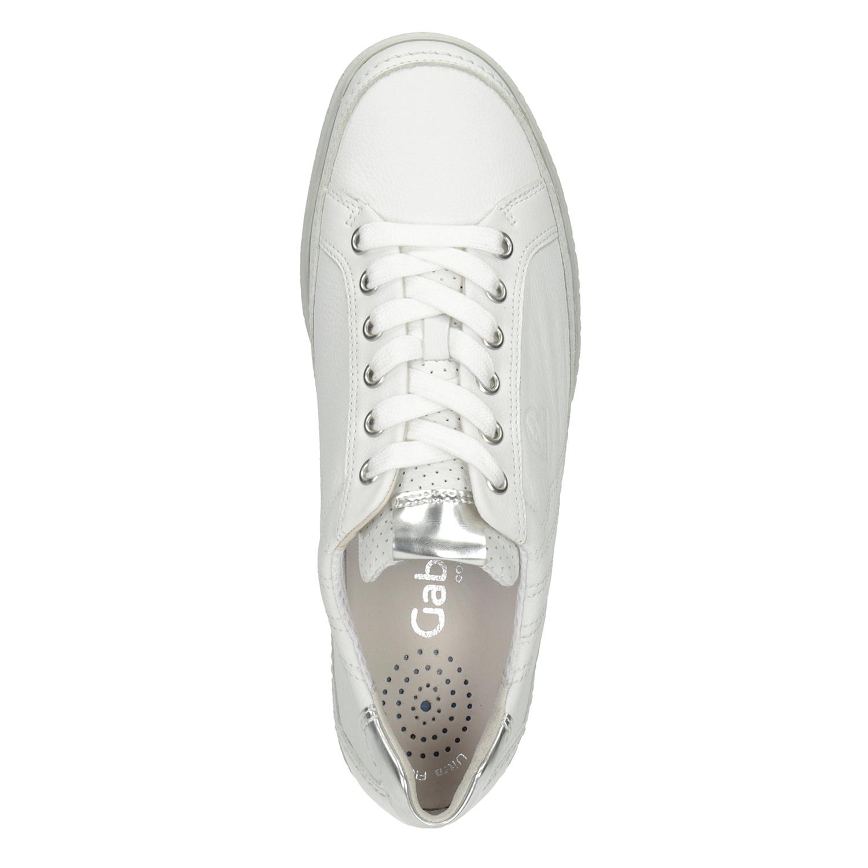 Gabor Bílé kožené tenisky - Všechny boty  71b3148e1a