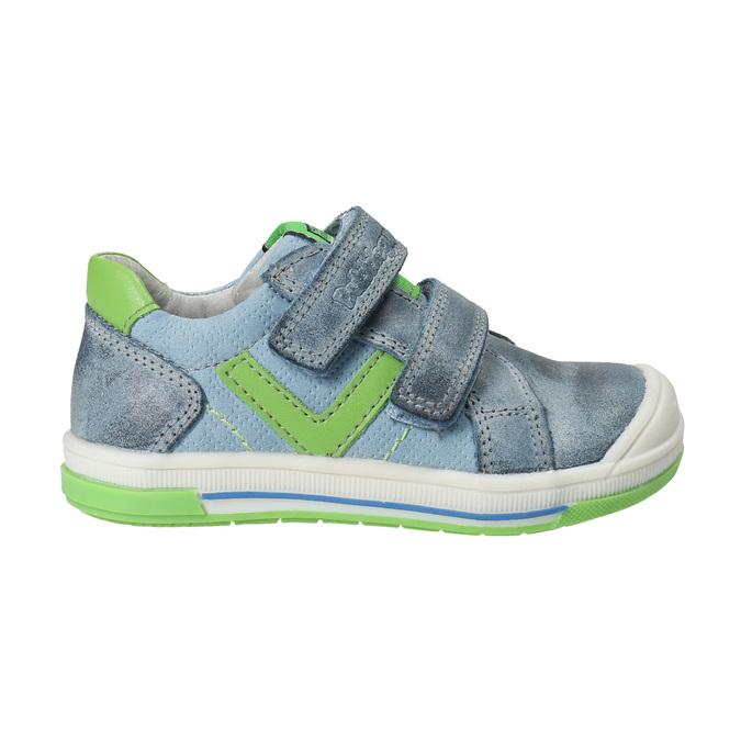 Dětská kožená obuv na suché zipy bubblegummers, šedá, 116-2600 - 19