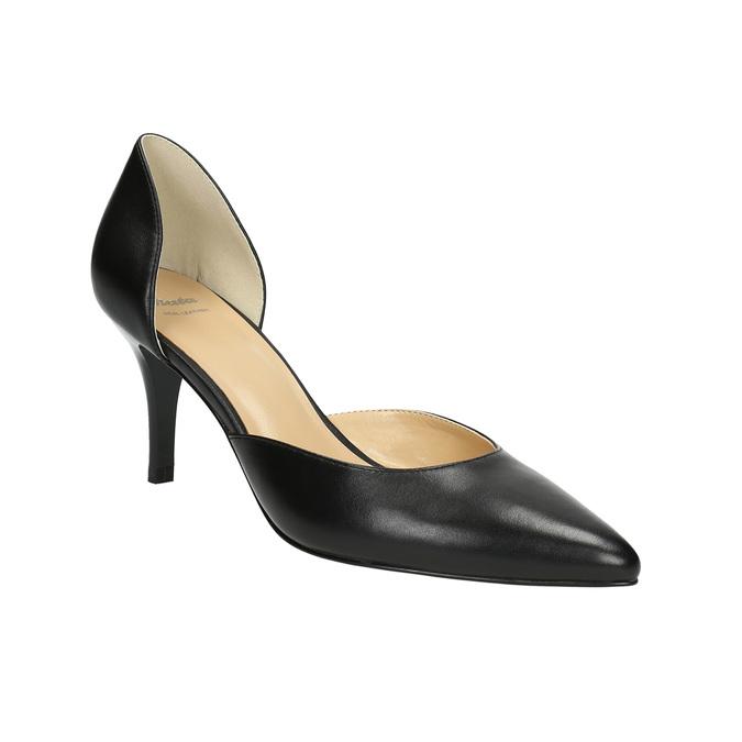 Lodičky na jehlovém podpatku bata, černá, 624-6631 - 13