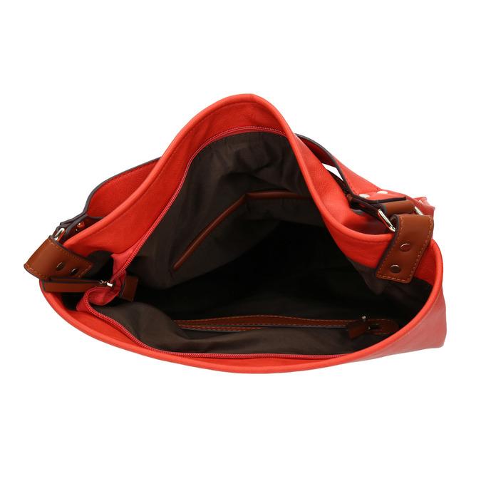 Červená kabelka s dvojitým uchem bata, červená, 961-5707 - 15