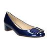 Kožené lodičky s mašlí hogl, modrá, 628-9400 - 13