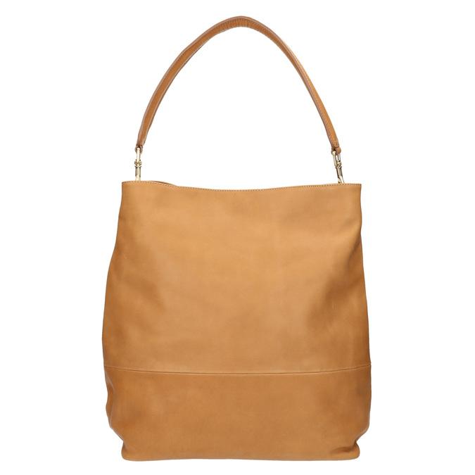 Kožená kabelka s odnímatelným uchem vagabond, béžová, 964-8051 - 26