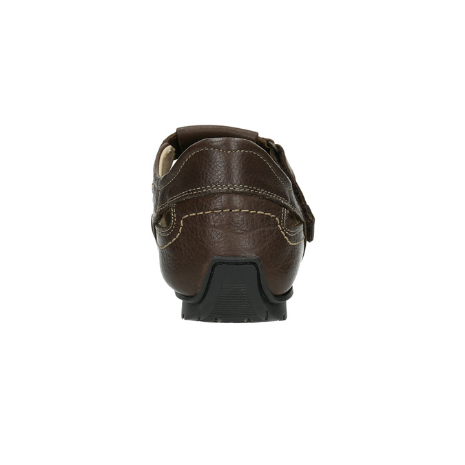 Pánské kožené sandály tbs-, hnědá, 814-4004 - 17