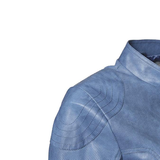 Modrá dámská bunda s perforací bata, modrá, 971-9113 - 16