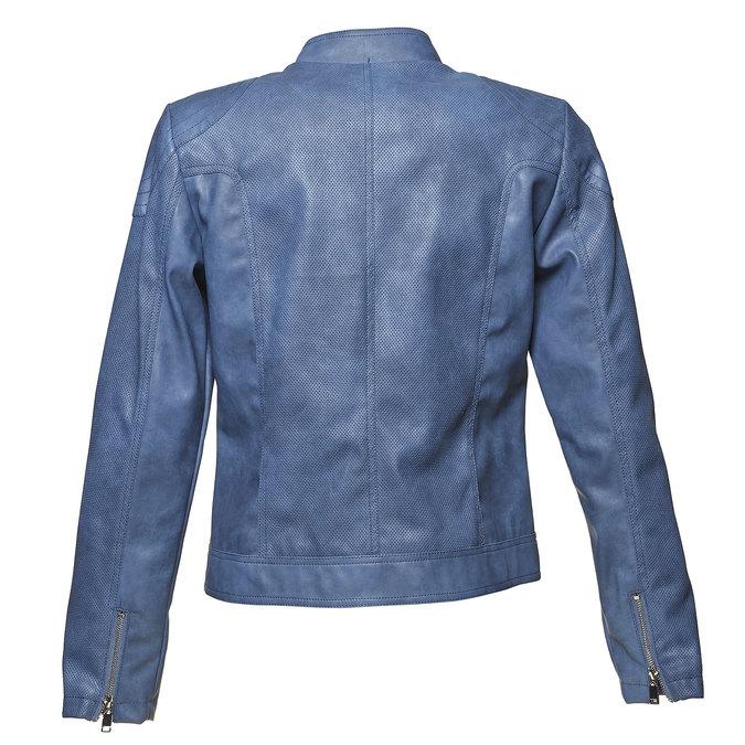 Modrá dámská bunda s perforací bata, modrá, 971-9113 - 26