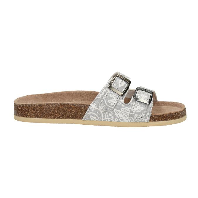 Dámská domácí obuv de-fonseca, šedá, 571-2600 - 15