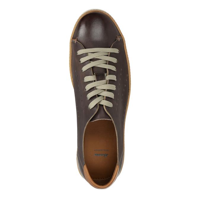 Hnědé kožené tenisky bata, hnědá, 846-4618 - 19