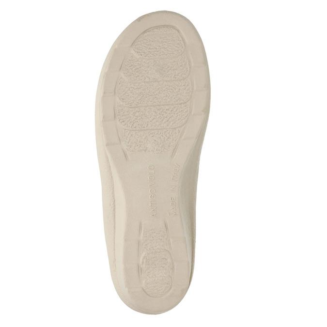 Dámská domácí obuv na podpatku bata, béžová, 579-8611 - 26
